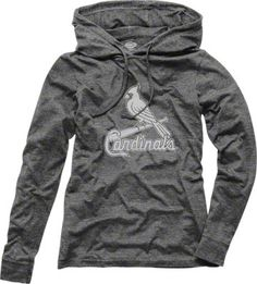 WANT!! Grey Cardinals hoodie. Perfect for fall games!