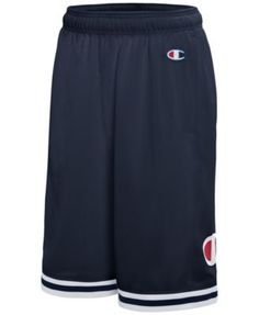 1d2e4033b35d Champion Men s Logo Mesh Basketball Shorts - Blue S