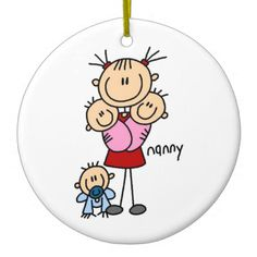 Shop Nanny Stick Figure Sticker created by stick_figures. Stick Figure Drawing, Mouse Crafts, Stick Family, Baby Drawing, Pink Cards, Painted Ornaments, Happy Paintings, Kid Character, Pen And Watercolor