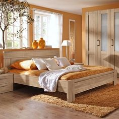 Lastest Home Design. Getting Bored With Your Home? Use These Interior Planning Ideas. Bedroom Decor For Couples, Home Decor Bedroom, Bedroom Color Schemes, Bedroom Colors, Simple Bed Designs, Bedroom Furniture, Furniture Design, Cama Queen, Wood Bed Design