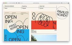Kiosk Studio& identity for Pavilion Nordico takes inspiration from geographic technology Web Layout, Layout Design, Print Layout, Signage Design, Website Design, Website Ideas, Ui Web, Graphic Design Posters, Grafik Design