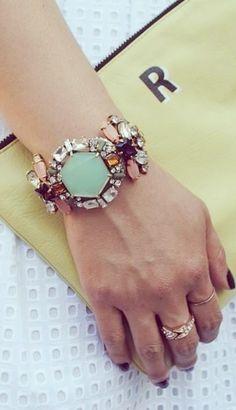 Mint statement bracelet
