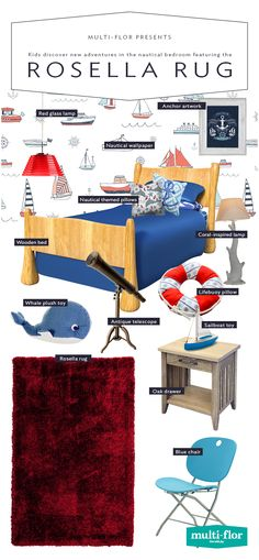 Who knows where their imagination will take them in a nautical bedroom. Nautical Bedroom, Imagination, Flooring, Warm, Shopping, Fantasy, Wood Flooring, Floor