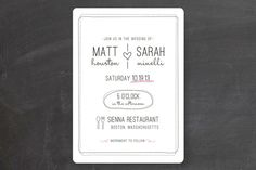 Bistro Wedding Invitations