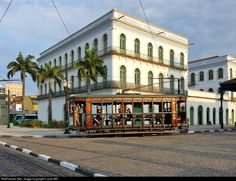 15 Untitled Electric Tram at Santos, Brazil by Lucas MR Colonial Architecture, Light Rail, Portuguese, South America, Brazil, Electric, Tropical, Mansions, House Styles