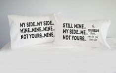 My Side Your Side Pillowcase set,Personalized, Custom, Mrs. Mr. Pillowcase set, pillowcase, bride, groom, pillowcases, wedding gift