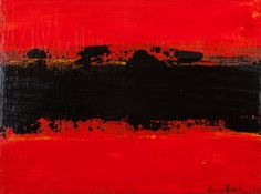 """Saatchi Online Artist: Gary Patick; Acrylic, 2012, Painting """"BLACK ON RED"""""""