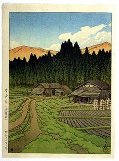 1948 - Hasui, Kawase - Nakayamadaira. Miyagi Prefecture