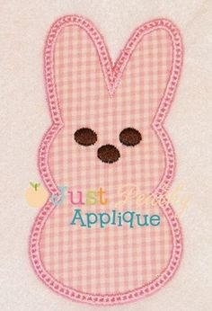 Easter Peep Bunny Machine Embroidery Design Plus 1 Free Design of Your Choice Buy 1, Get 1 Free via Etsy.