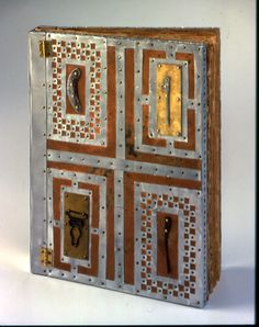 Peter Madden, Ireland Journal, 2000. One-of-a-kind book, copper, found objects wood, original text and images on paper.