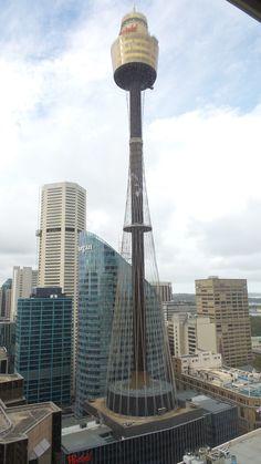Room view at the Hilton Sydney Hotel Cn Tower, Sydney, Hotels, Australia, Building, Modern, Room, Travel, Bedroom