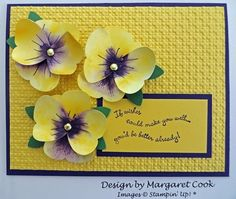 Pansy Flowers using the butterfly punch
