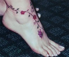 There's something very feminine about foot tattoos
