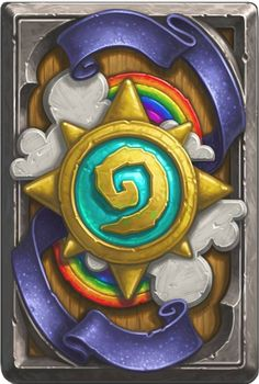 Hearthstone's latest cardback for Ranked Play. I earned mine!