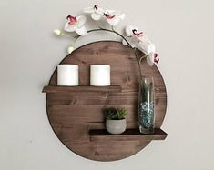 17 Remarkable DIY Round Shelf Designs To Adorn Your Empty Walls is part of Diy wall decor - Minimalism is rightly extremely popular style in interior, especially if you consider the simplicity and purity while decorative elements that we have Shelf Design, Diy Design, Interior Design, Wood Design, Design Ideas, Home Decor Accessories, Decorative Accessories, Diy Wall Decor, Diy Home Decor