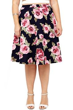 Special Offer: $24.00 amazon.com Put a swing in your step with this romantic floral skirt. It's constructed with a classic flared circle silhouette out of a spandex-blend material for great drape and movement. Finished with an elasticized waistband. The hemline falls around knee level....