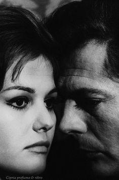 Posted by Cipria profumo & rètro Claudia Cardinale and Marcello Mastroianni 1960