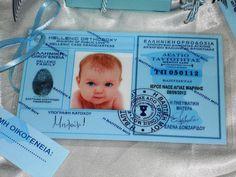 Προσκλητήριο Βάπτισης για κορίτσι ταυτότητα! Christening, Happy Birthday, Baby Shower, Baptism Ideas, Creative, Cards, Wedding, Bebe, Happy Brithday