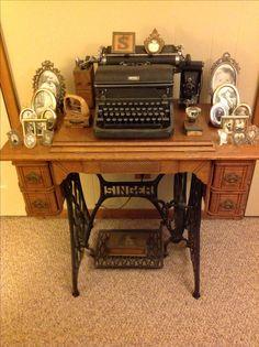 Antique Sewing Machine, Typewriter, etc.