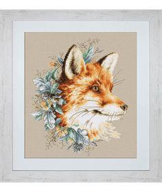 Fox Cross Stitch kit Cross Stitch Set Embroidery Kit Luca-S DIY