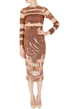 Rose gold sequin mid-length dress with sheer panels by SAILEX Shop now at perniaspopupshop.com #perniaspopupshop #clothes #womensfashion #love #indiandesigner #sailex #happyshopping #sexy #chic #fabulous #PerniasPopUpShop #ethnic #indian
