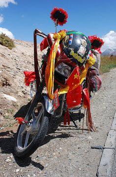 Riding through Tibet