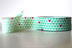 Chugoku AQUA Hearts Washi Tape $2.50. accent color! can use for wooden spoons/compostable cups