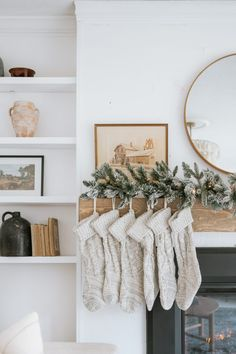 Mixing Styles for a Perfectly Styled Christmas Mantle - Jessica Sara Morris