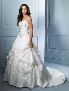 This is my Wedding Dress ... shhh Saul hasnt seen it .. Its in the closet ... I just love this dress ... its even more beautiful on ...