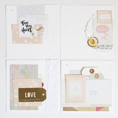 Layout ideas - pastels - by Crate Paper.