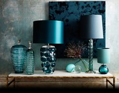 Gorgeous collection of colourful lamps from Porta Romana!
