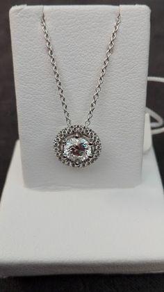 Gioielleria Bagnoli: Girocollo oro bianco 18 kt. e kt 0.55 di diamante ... Diamond, Jewelry, Rose Gold, Jewlery, Jewerly, Schmuck, Diamonds, Jewels, Jewelery