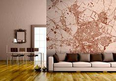 Behang van je eigen wijk op je muur