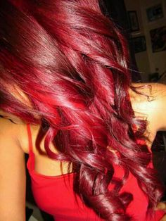 Bright red hair I love this so much! I will be attempting this tonight I think :)