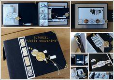 Tutoriel «Jolis souvenirs» | Blog 10 petits doigts Album Photo Scrapbooking, Mini Albums Scrap, Album Book, Mini Books, Photo Book, Projects To Try, Creations, Arts And Crafts, Album Photos