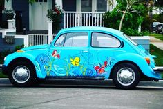 The most amazing car....ever! #mermaininspiration #disney #littlemermaid