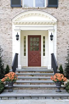 Front Door Surround In Connecticut By Nancy Lovas Associates LLC.  Photography By Tim Lee