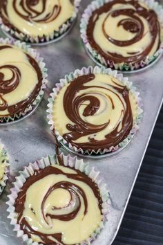You can obviously pipe some frosting over these Nutella Swirl Cupcakes, but these are already delicious and decadent on their own. Why mess with perfection? Nutella Muffins, Nutella Cupcakes, Swirl Cupcakes, Swirl Cake, Cheesecake Cupcakes, Chocolate Cookie Dough, Chocolate Swirl, Salted Chocolate, Brownie Recipes