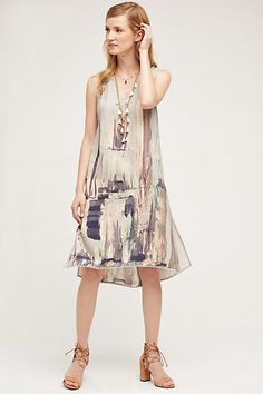 Dropwaist Silk Dress - anthropologie.com
