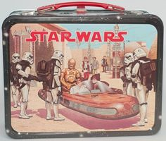 Vintage 1977 Star Wars Metal Lunch box - Without Thermos Original Lunchbox Retro Lunch Boxes, Lunch Box Thermos, Cool Lunch Boxes, Metal Lunch Box, Vintage Movies, Vintage Toys, Vintage Stuff, Vintage Metal, Retro Vintage