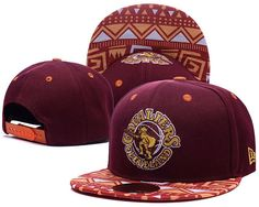 Mens Cleveland Cavaliers New Era NBA HWC Hardwood Classics Cross Colors Aztec Visor 9FIFTY Snapback Cap - Maroon