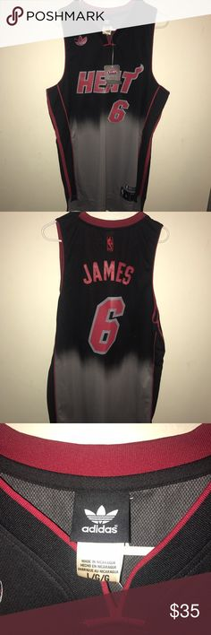 Miami Heat jersey Lebron James Miami heat Jersey brand new with tags Adidas Other