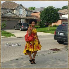 High-low african print dress