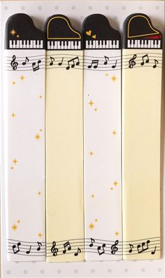 long piano bookmark stickers Post-it