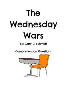 essay questions for wednesday wars The wednesday wars is a 2009 young adult historical fiction novel written by gary d schmidt, the author of lizzie bright and the buckminster boy.