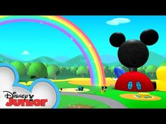 Mickey, Minnie, Daisy, Donald, and Goofy go looking for a rainbow on St. Watch Mickey Mouse Clubhouse on Disney Junior and in the DisneyNOW ap. Mickey Mouse Wallpaper, Mickey Mouse Clubhouse, Disney Junior, Mickey And Friends, Kids House, Happy Birthday, Rainbow, Aba, Learn English