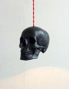 Skull Pendant Light  Black by RawDezign on Etsy, £65.00