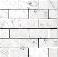 Carrara (Carrera) Venato Marble Honed Subway Floor and Wall Tile Shower wall option Marble Mosaic Tiles, Glass Subway Tile, Flooring, Wall Tiles, Carrara Marble Tile, Carrara, Marble Mosaic, Marble Subway Tiles, Marble Polishing
