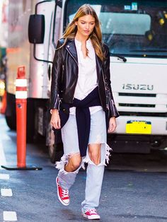 Jeans-and-Converse outfits are classic for a reason. We've rounded up 12 It girl–approved combos that prove the casual look will never go out of style.
