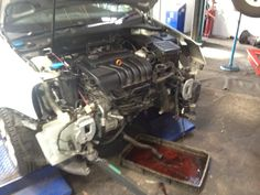 Vw golf - front end off to do a radiator what a joke